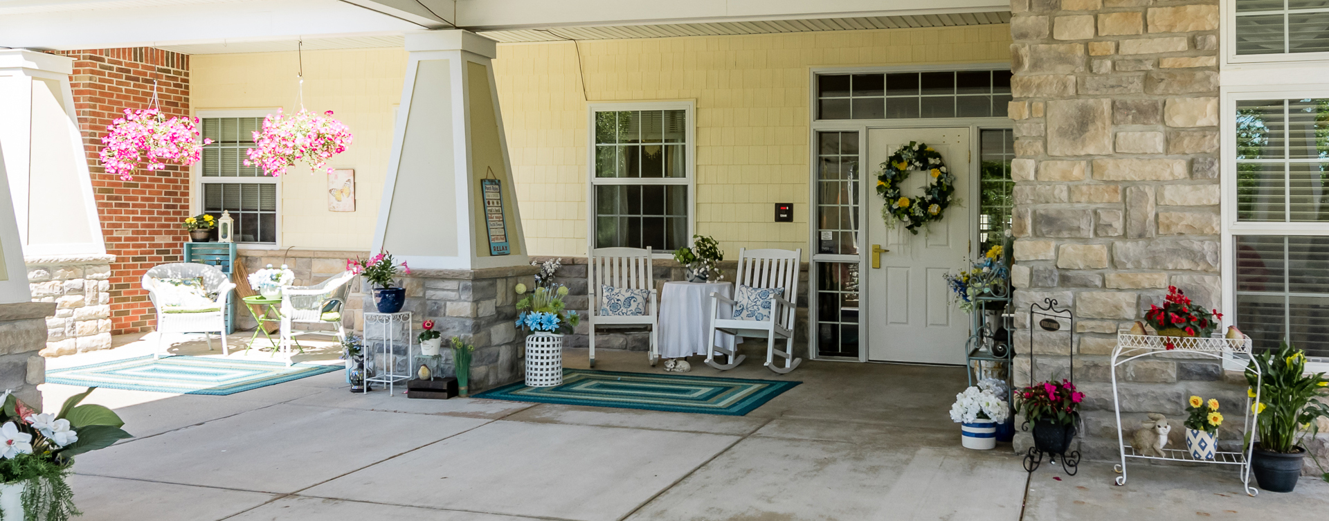 Relax in your favorite chair on the porch at Bickford of Midland