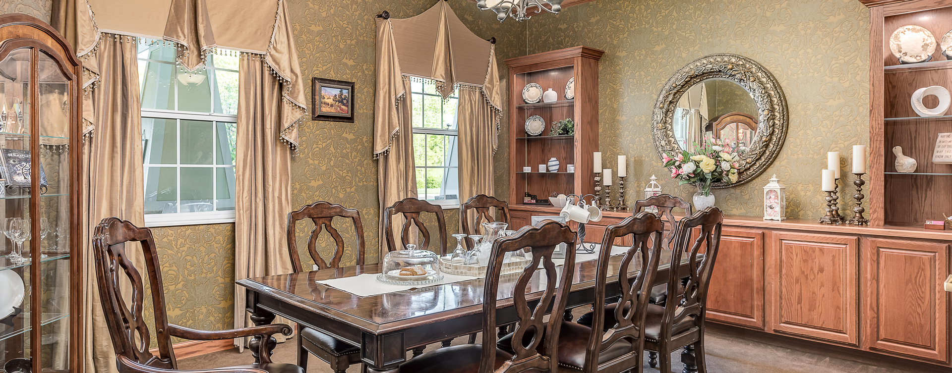 Food is best when shared with family and friends in the private dining room at Bickford of Midland