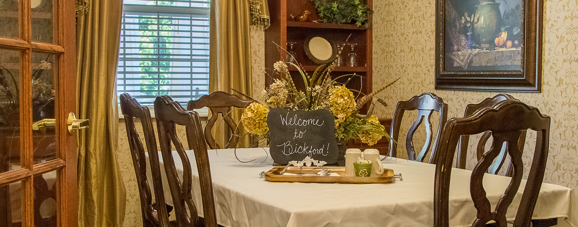Food is best when shared with family and friends in the private dining room at Bickford of Moline