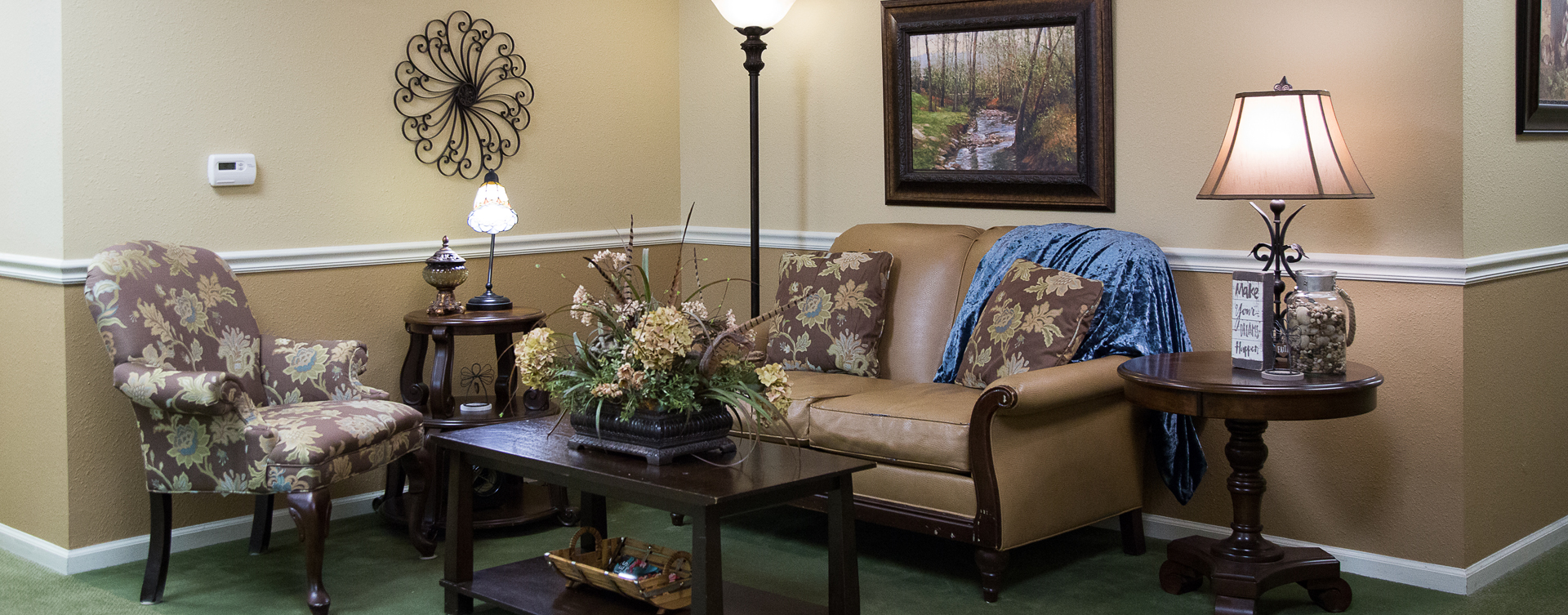 Enjoy a good book in the sitting area at Bickford of Moline