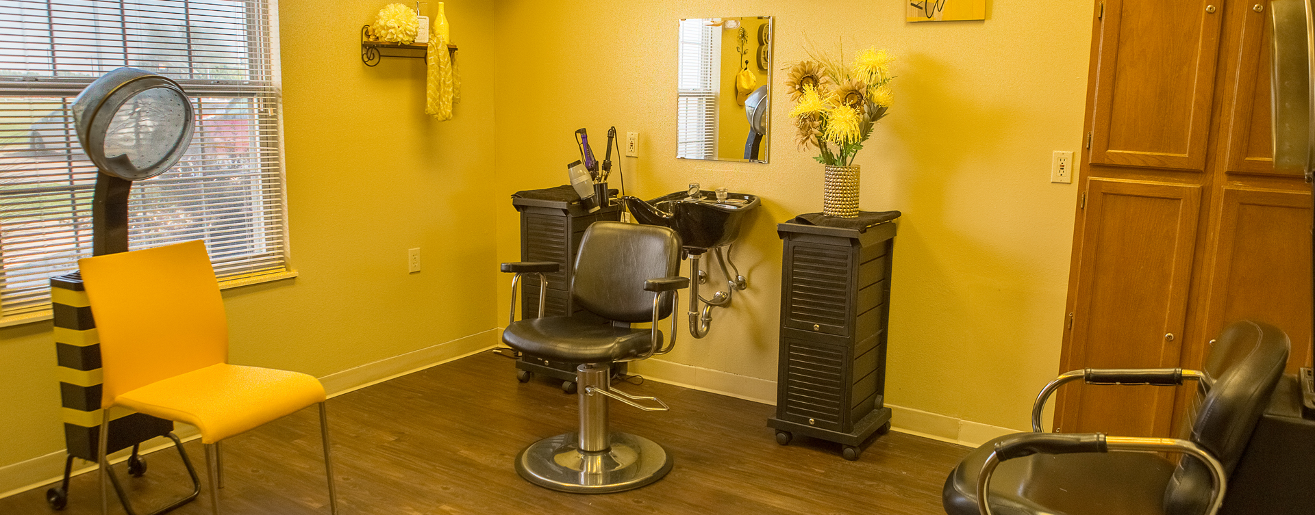 Love your own stylist? She's welcome to take care of you in the salon at Bickford of Muscatine