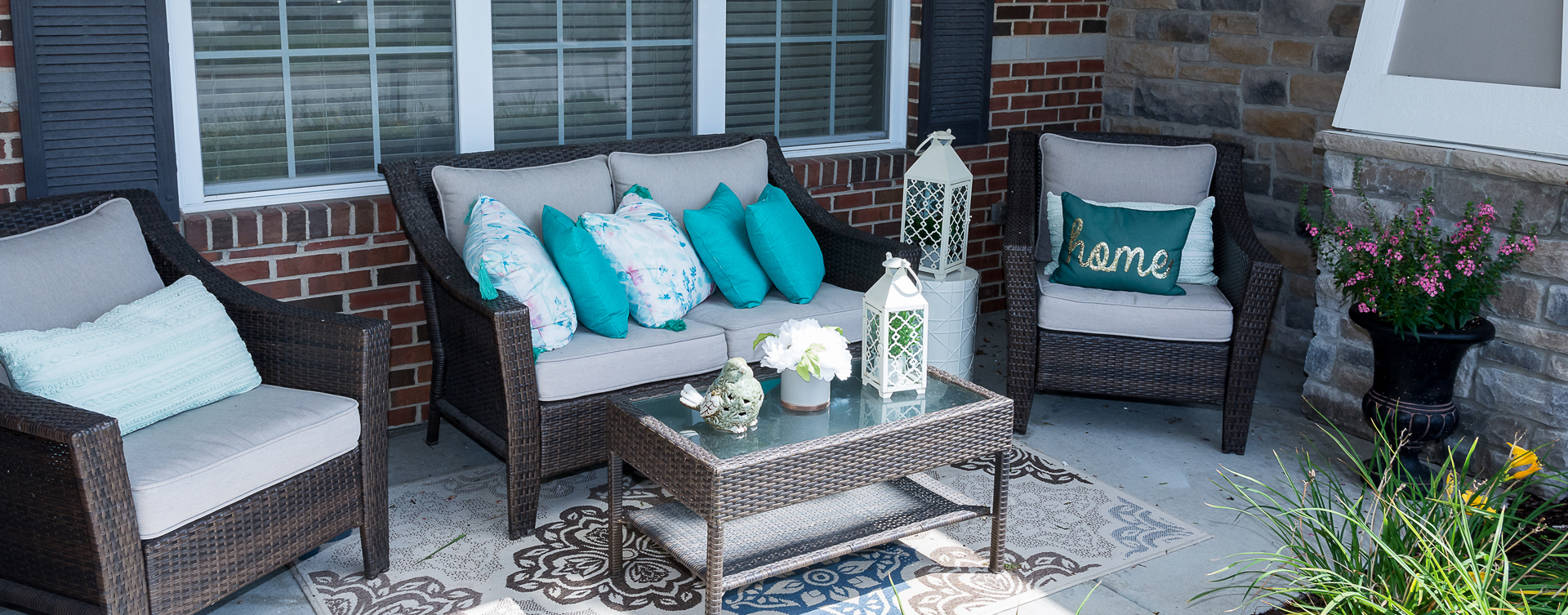 Relax in your favorite chair on the porch at Bickford of Oswego