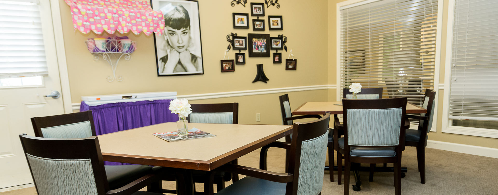 Unleash your creative side in the activity room at Bickford of Oswego