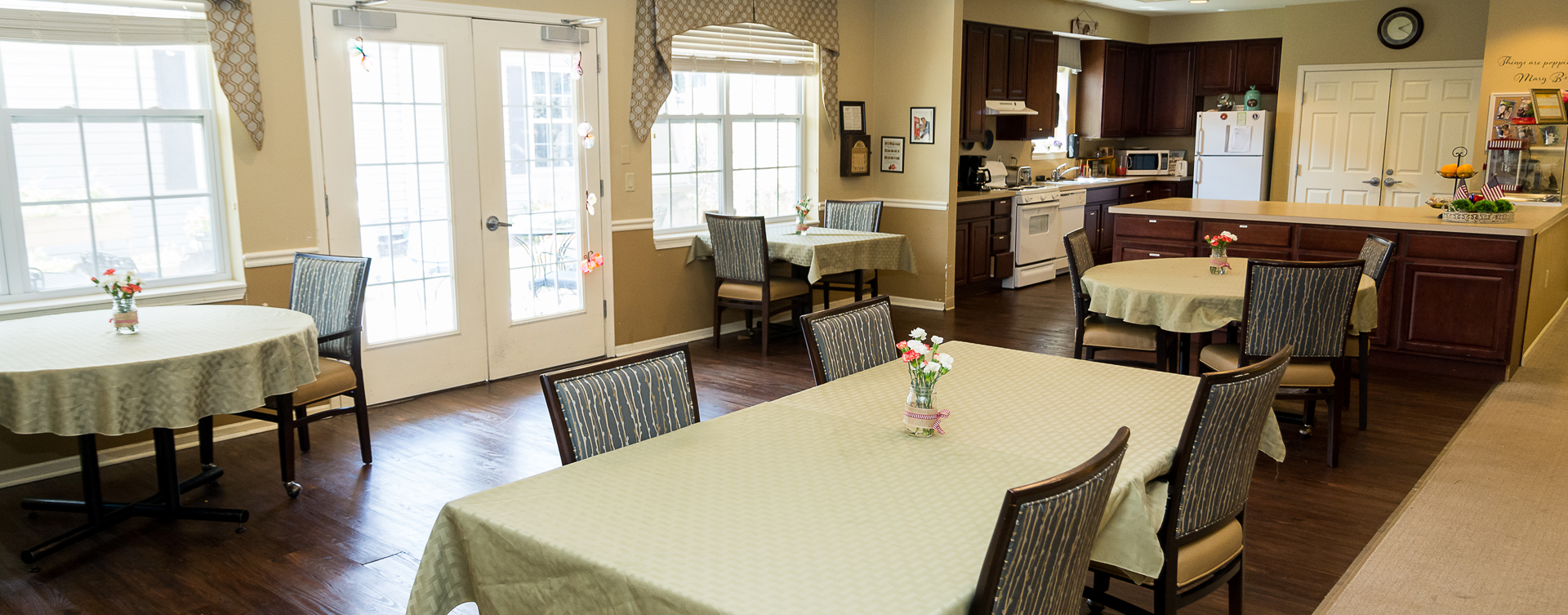 Mary B's country kitchen evokes a sense of home and reconnects residents to past life skills at Bickford of Oswego