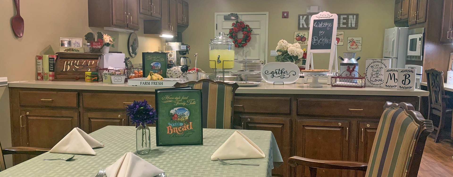 Mary B's country kitchen evokes a sense of home and reconnects residents to past life skills at Bickford of Overland Park