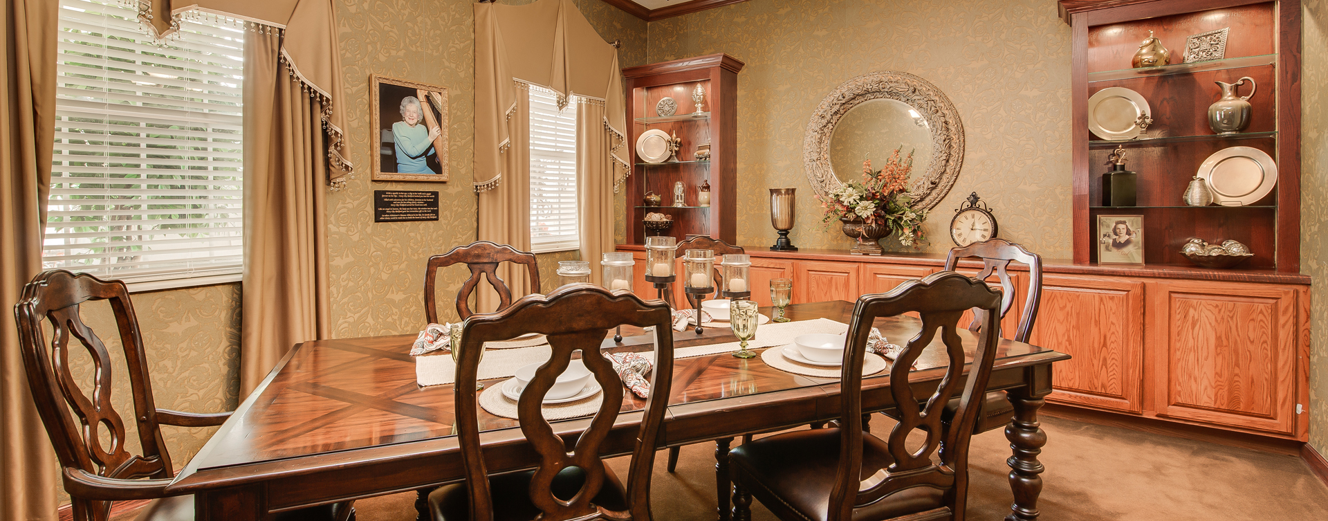 Food is best when shared with family and friends in the private dining room at Bickford of Portage