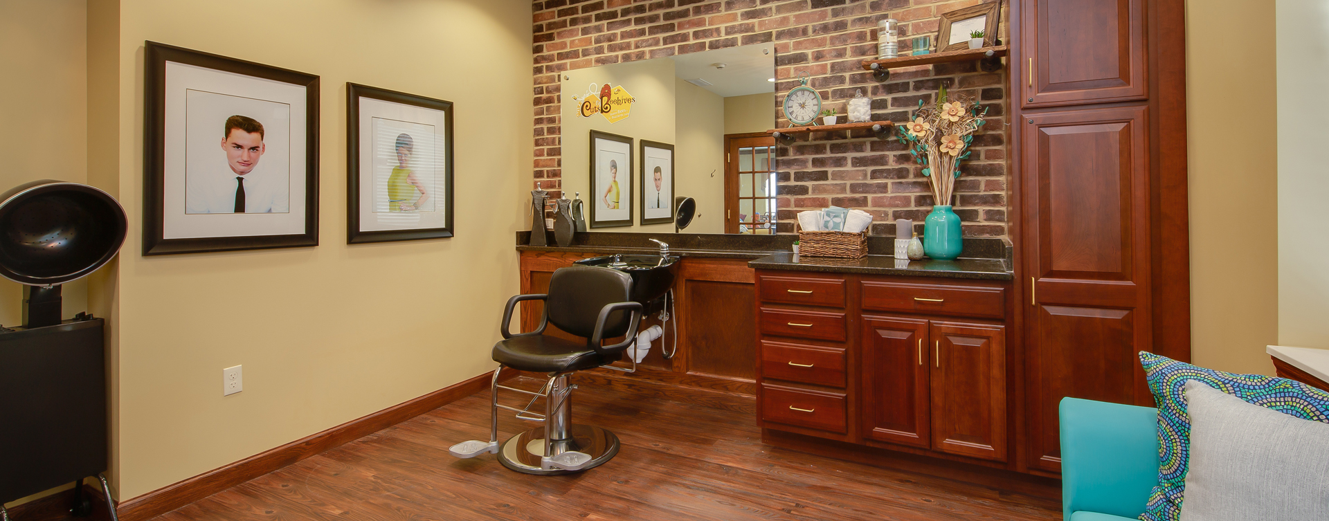 Love your own stylist? She's welcome to take care of you in the salon at Bickford of Portage