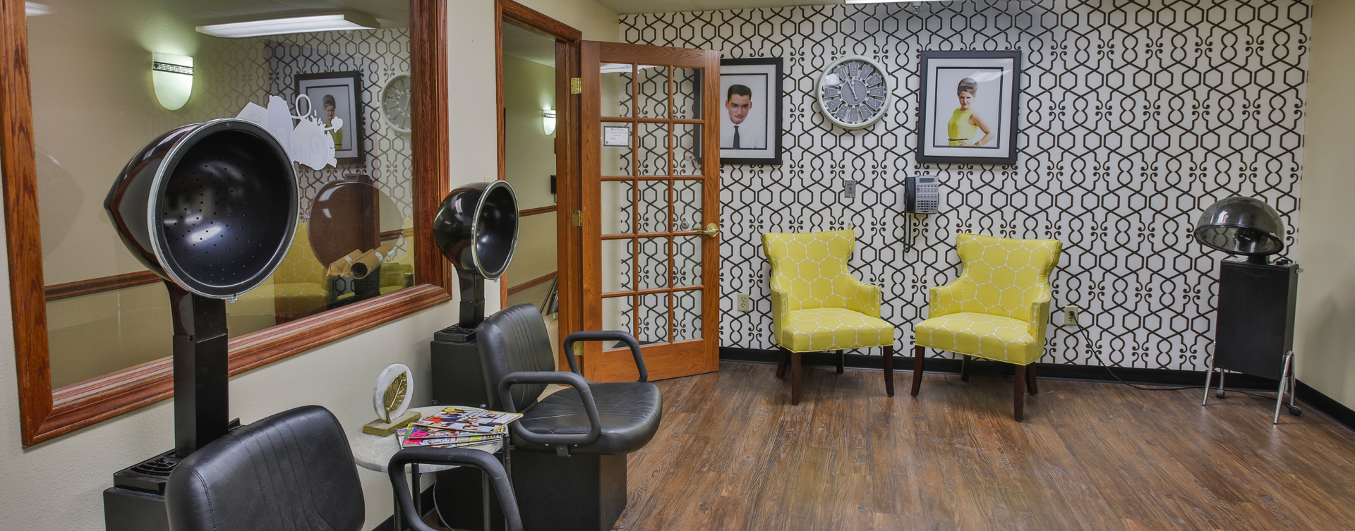 Receive personalized, at-home treatment from our stylist in the salon at Bickford of Peoria