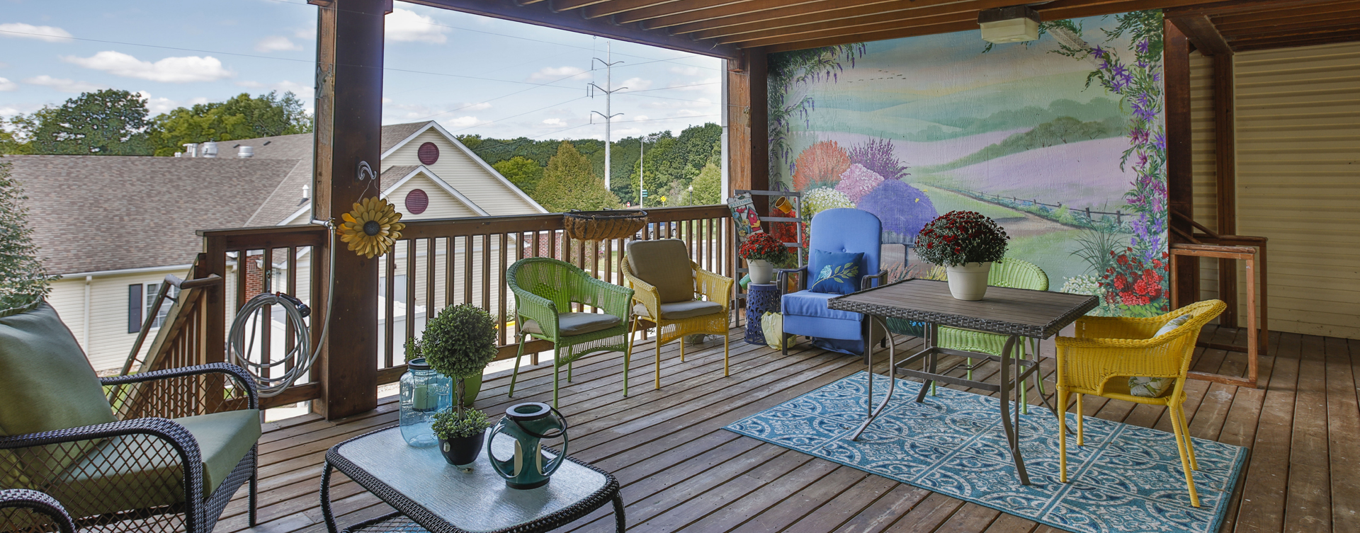 Enjoy the outdoors in a whole new light by stepping onto our back deck at Bickford of Peoria