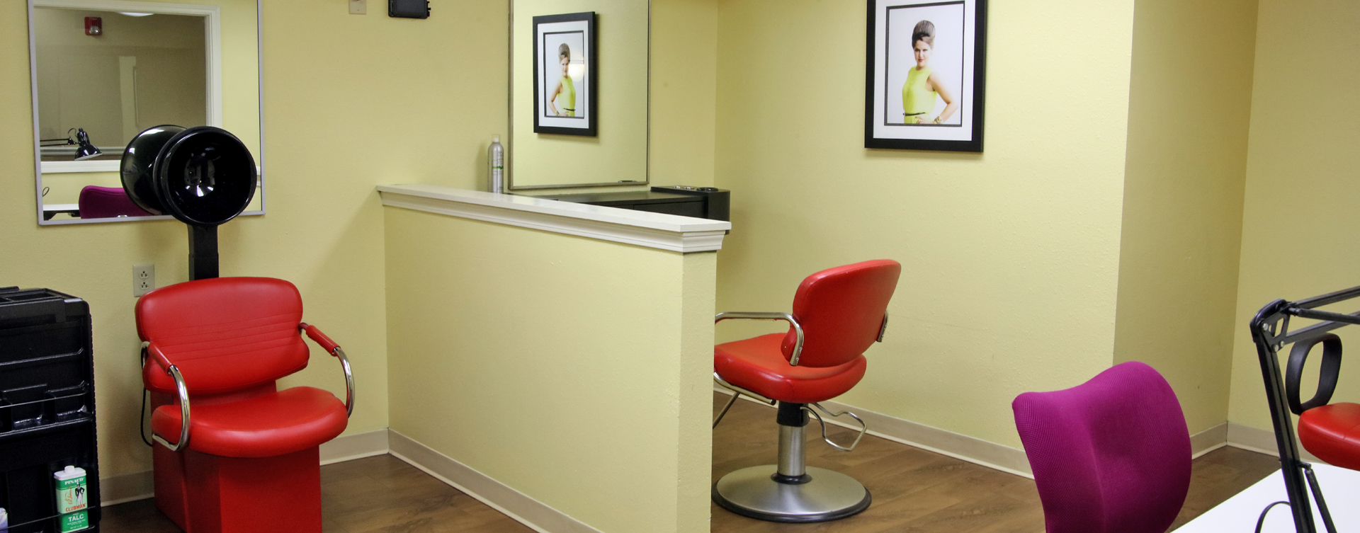 Receive personalized, at-home treatment from our stylist in the salon at Bickford of Rockford