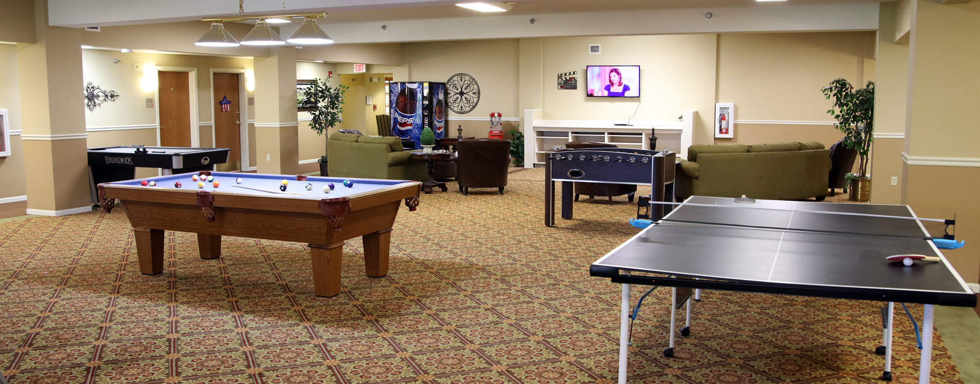 Challenge your friends with one of the games in our activity space at Bickford of Rockford