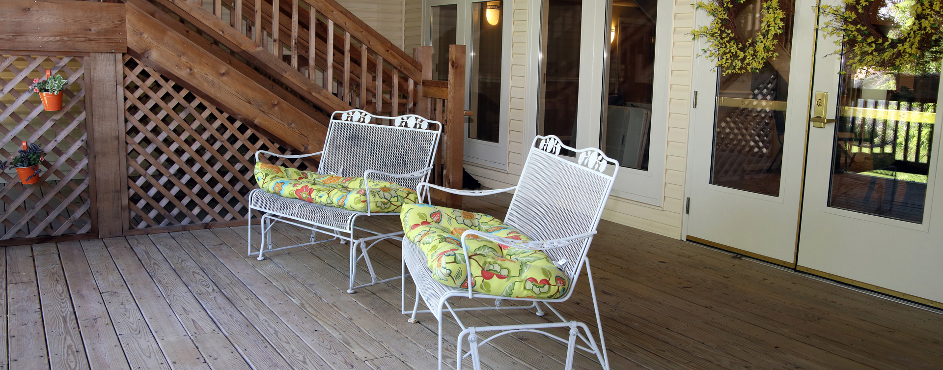 Enjoy the outdoors in a whole new light by stepping onto our back deck at Bickford of Rockford