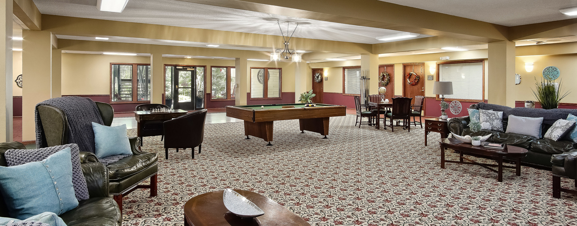 Enjoy a game of pool with friends at Bickford of Raytown