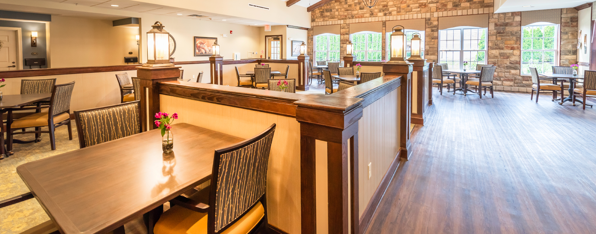 Enjoy homestyle food with made-from-scratch recipes in our dining room at Bickford of Shelby Township