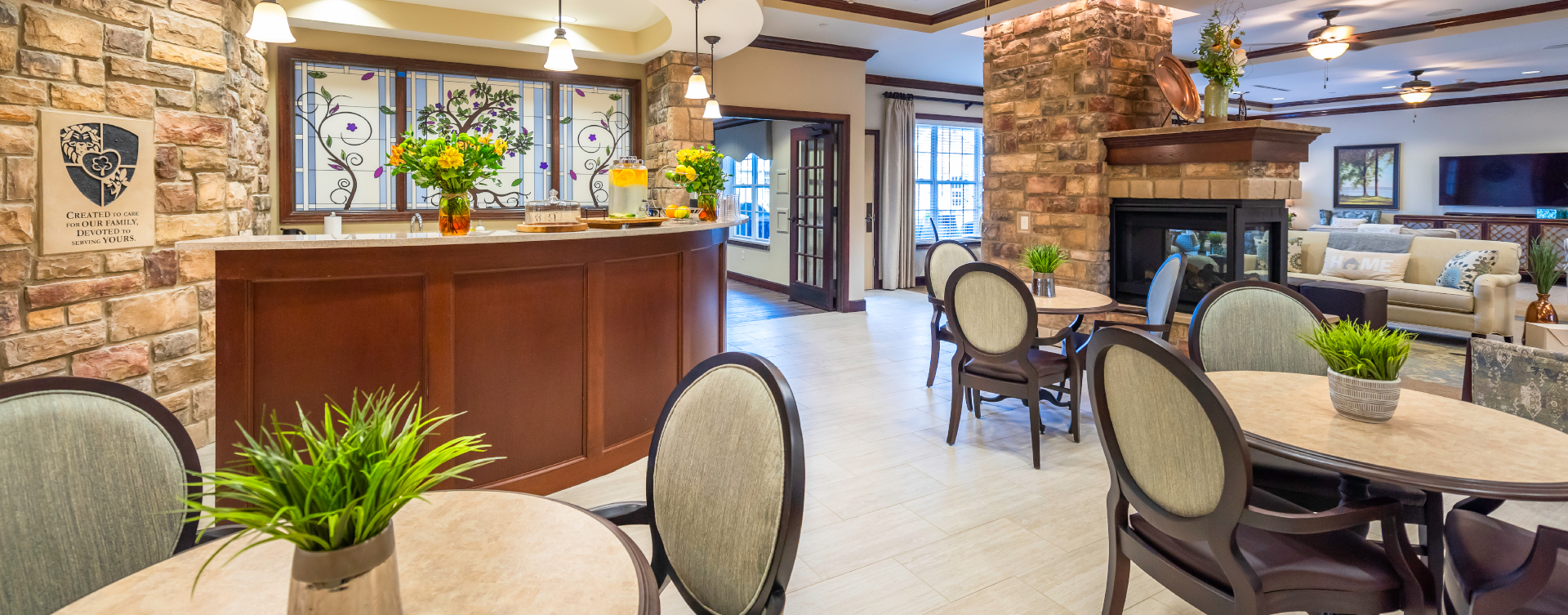 Intimate enough to entertain your closest family; you can even host your next get together in the bistro at Bickford of Shelby Township