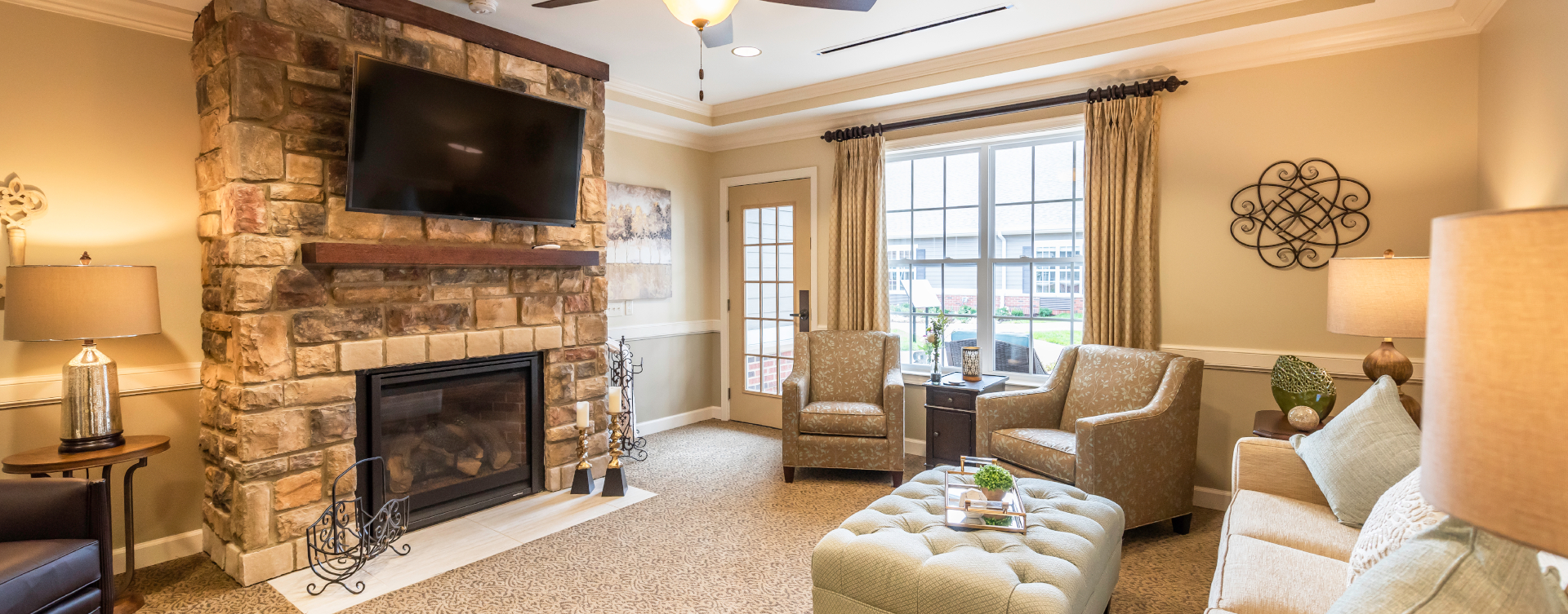 Enjoy a good snooze in the sitting area at Bickford of Shelby Township