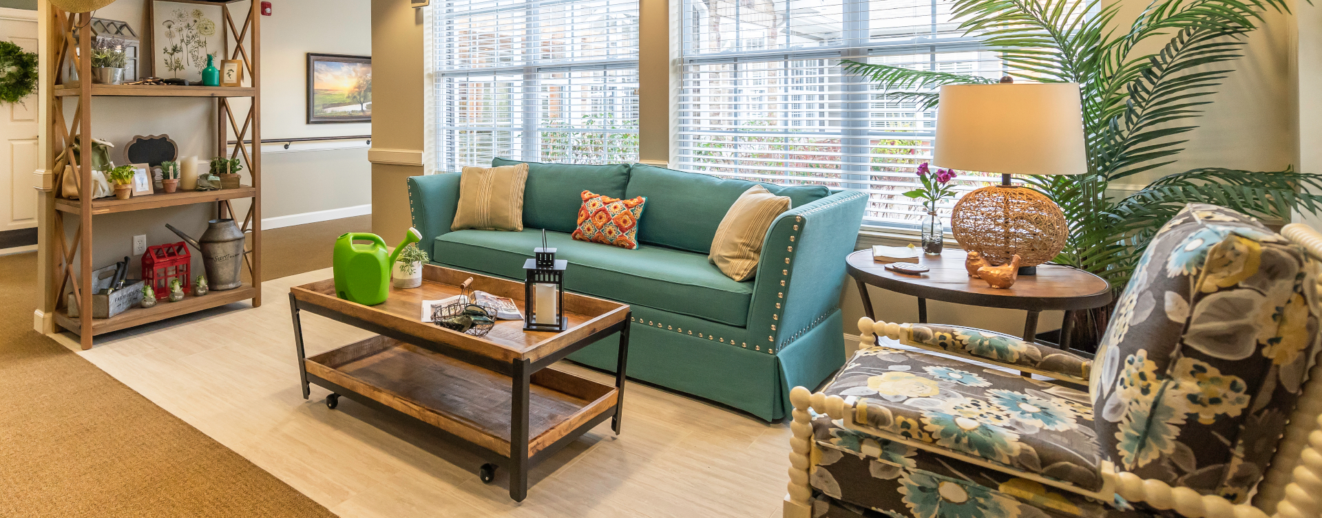 Curl up with a good book in the sunroom at Bickford of Shelby Township