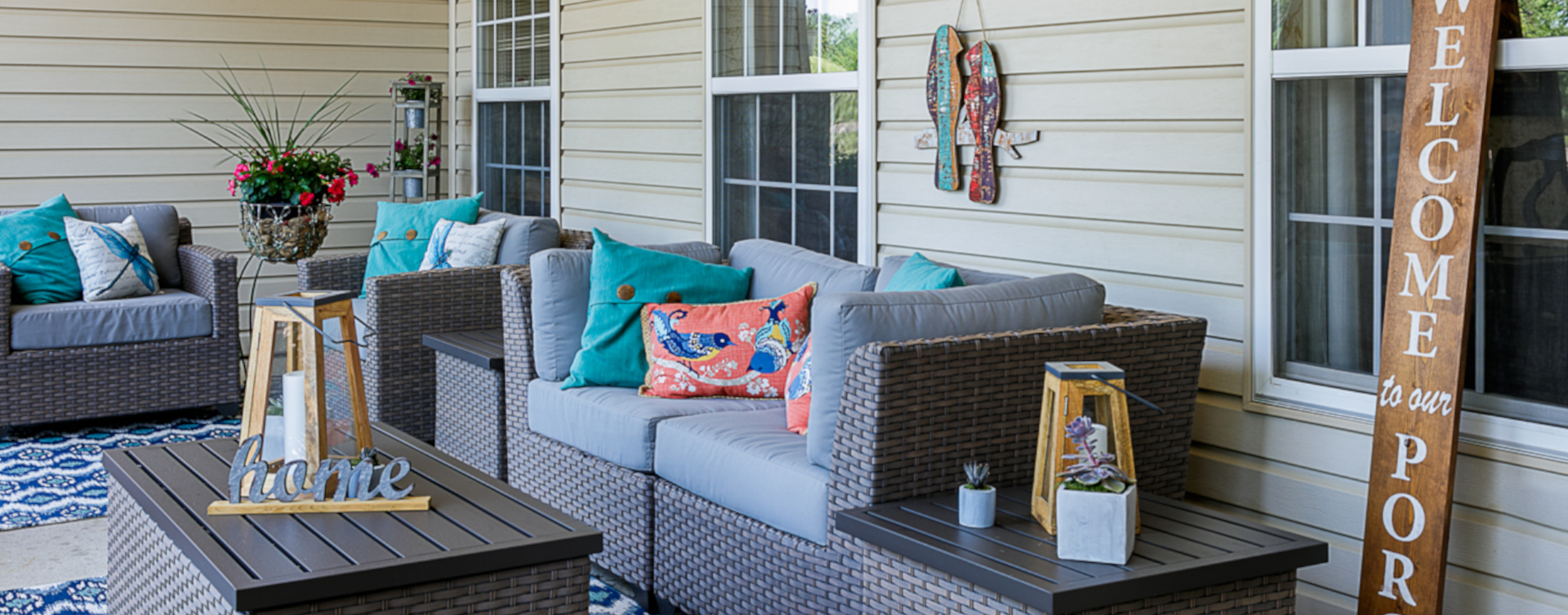 Relax in your favorite chair on the porch at Bickford of Sioux City