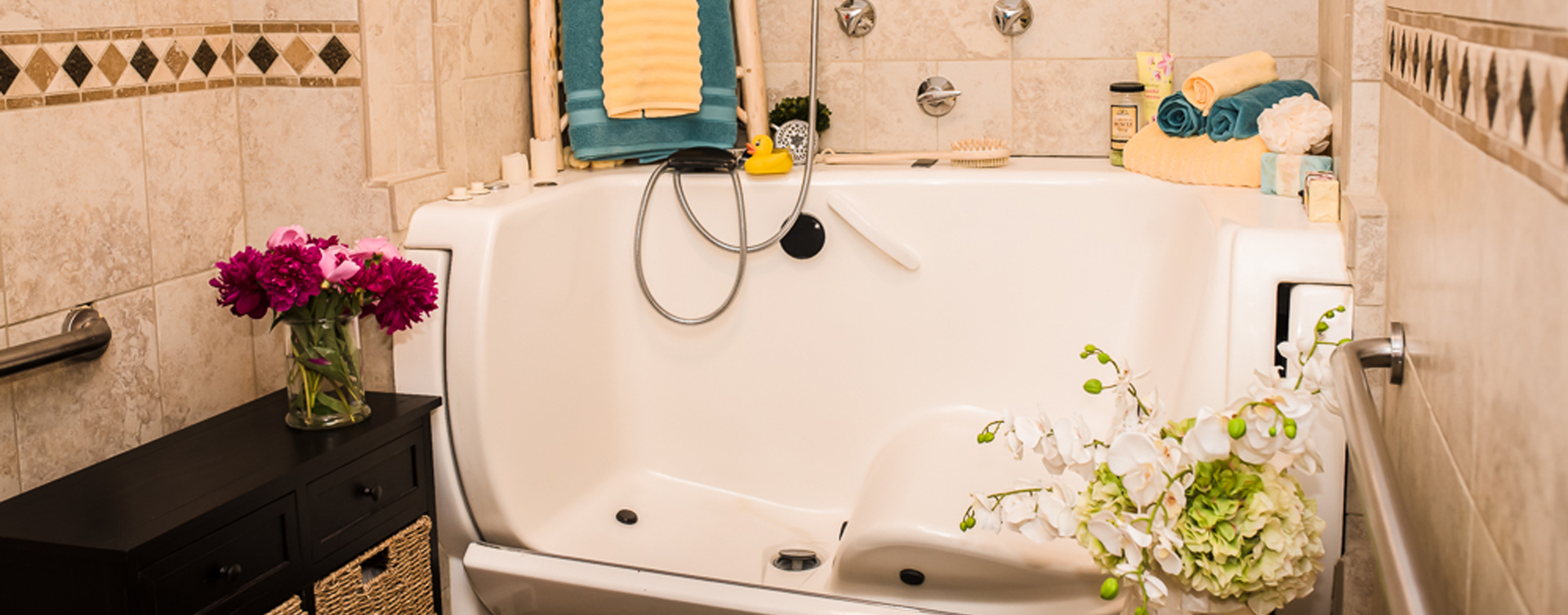 Hydrotherapy eases achy joints in our whirlpool at Bickford of Sioux City