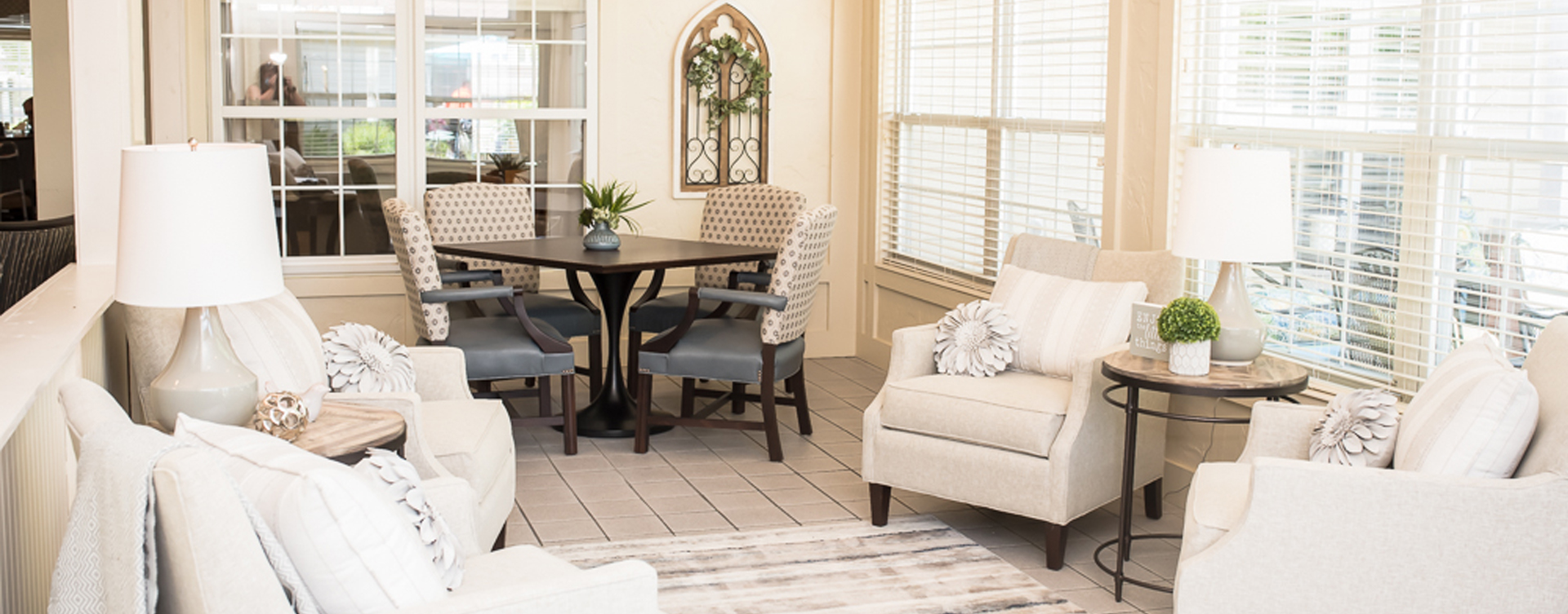 Enjoy the view of the outdoors from the sunroom at Bickford of Sioux City