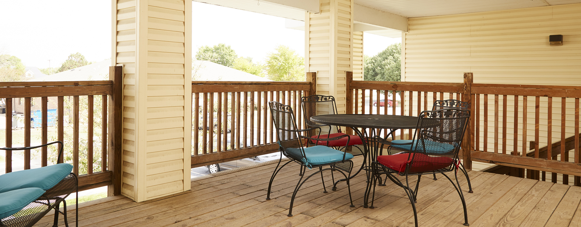 Enjoy the outdoors in a whole new light by stepping onto our back deck at Bickford of Springfield