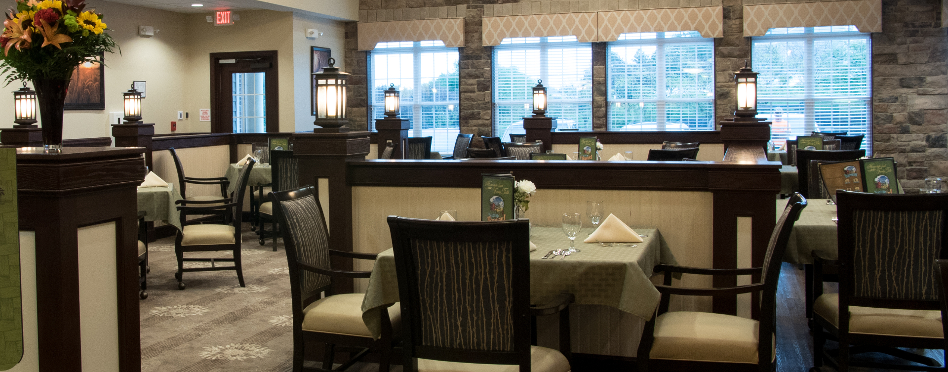 Enjoy restaurant -style meals served three times a day in our dining room at Bickford of Spotsylvania