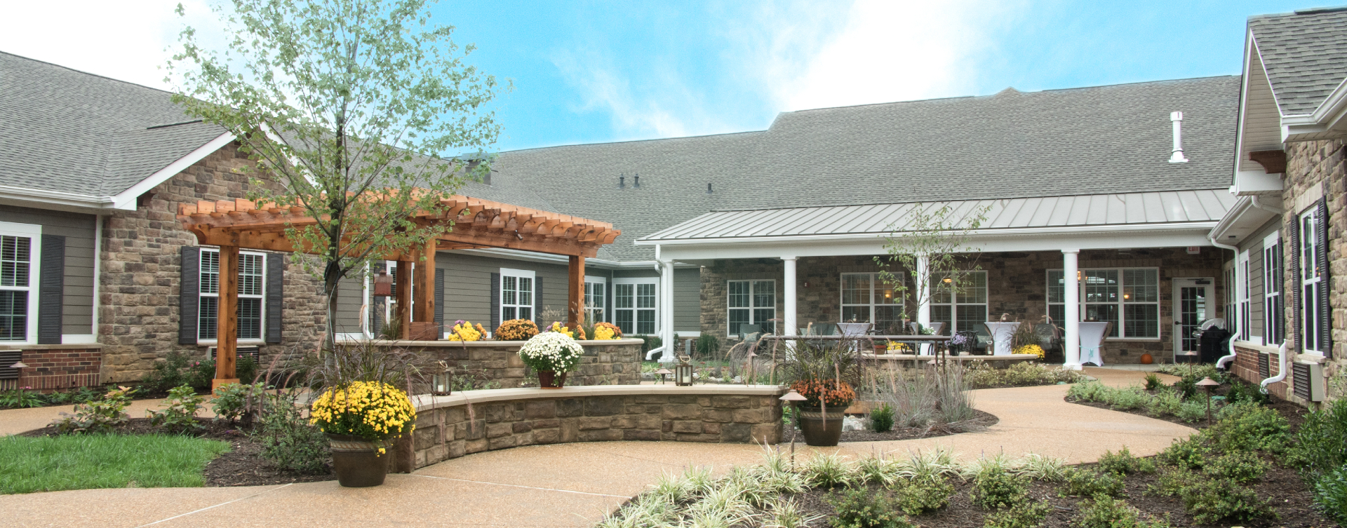 Enjoy bird watching, gardening and barbecuing in our courtyard at Bickford of Spotsylvania