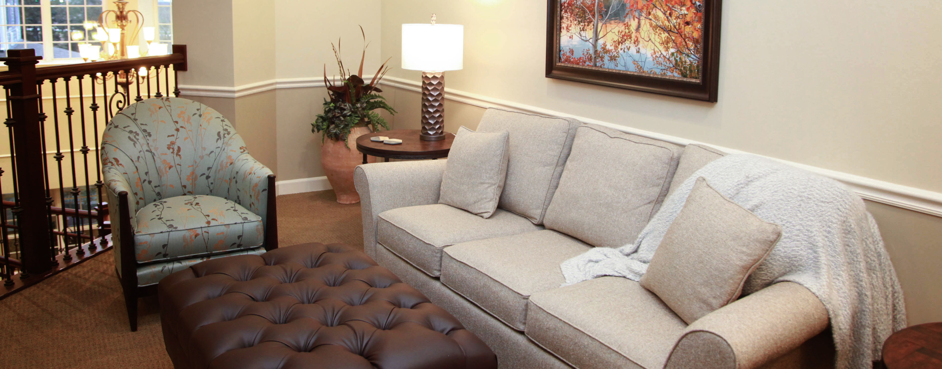 Enjoy a good snooze in the sitting area at Bickford of St. Charles