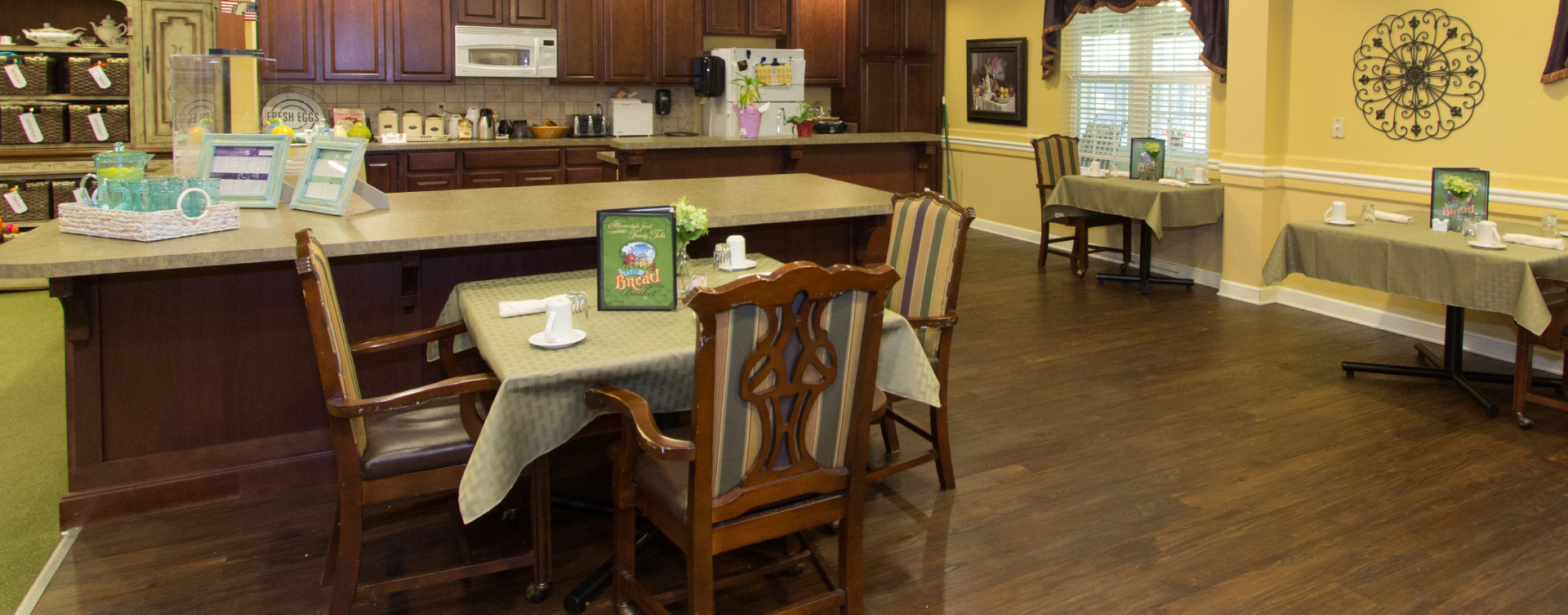 Mary B's country kitchen evokes a sense of home and reconnects residents to past life skills at Bickford of St. Charles