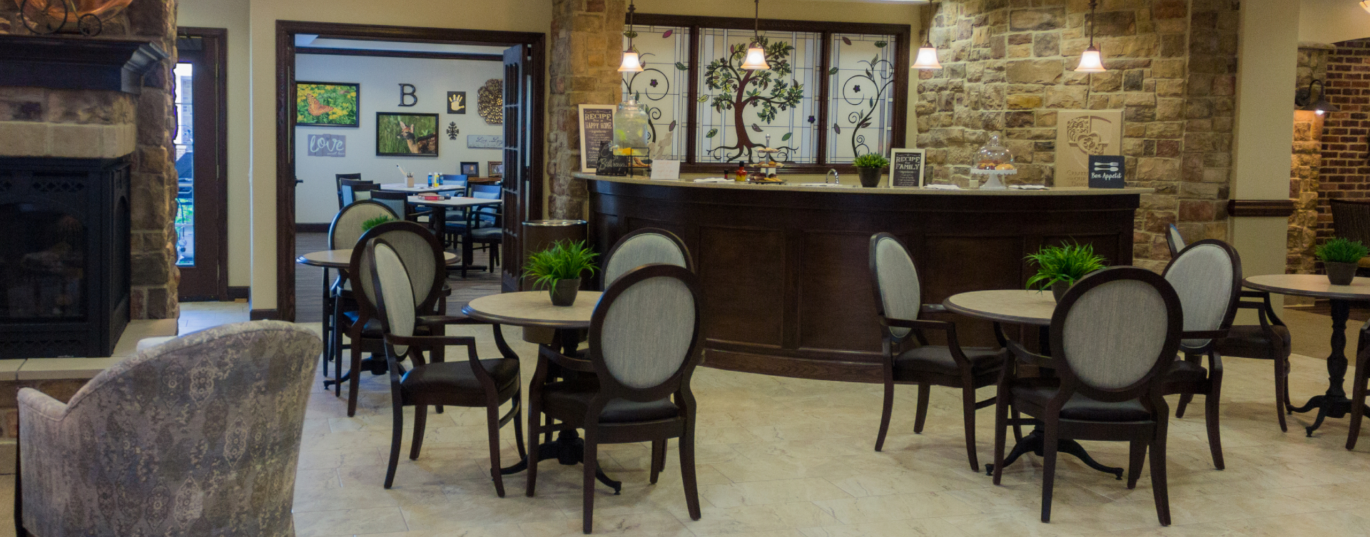We're serving up snacks, beverages and service around the clock in the bistro at Bickford of Suffolk