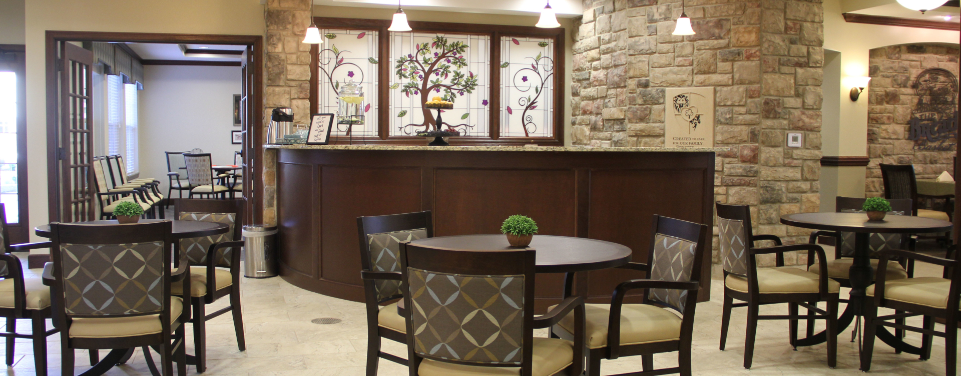 Intimate enough to entertain your closest family; you can even host your next get together in the bistro at Bickford of Tinley Park