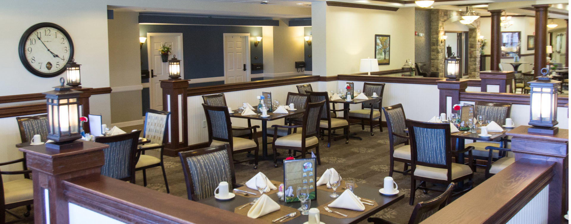Enjoy homestyle food with made-from-scratch recipes in our dining room at Bickford of Tinley Park