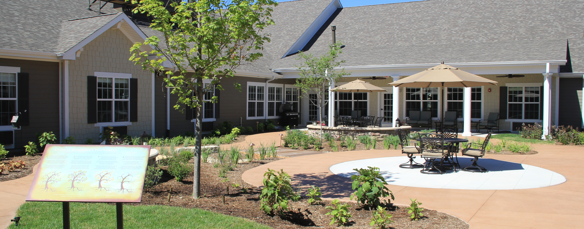 Enjoy the outdoors in a whole new light by stepping into our secure courtyard at Bickford of Tinley Park