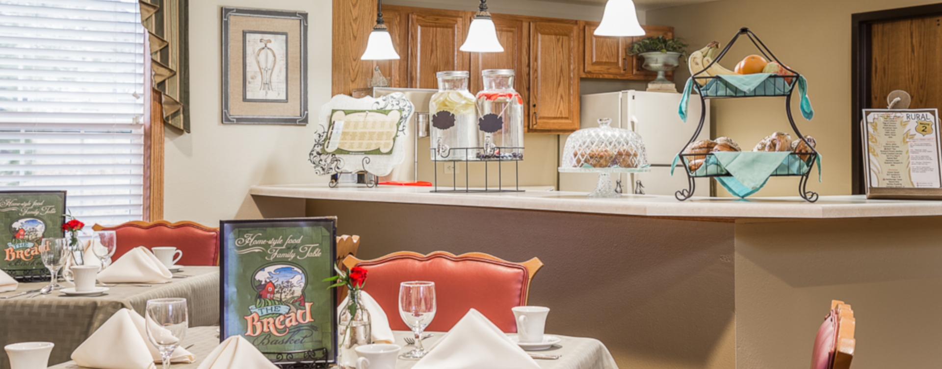 Mingle and converse with old and new friends alike in the bistro at Bickford of Urbandale