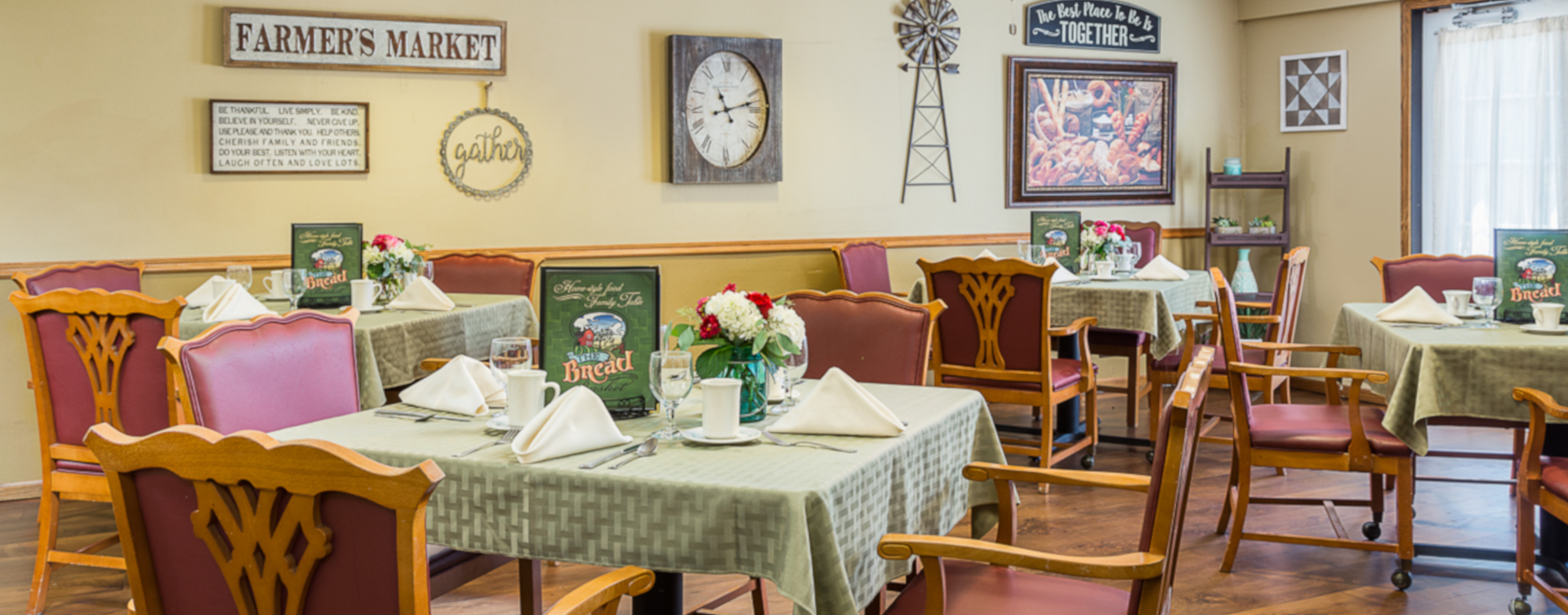 Mary B's country kitchen evokes a sense of home and reconnects residents to past life skills at Bickford of Urbandale