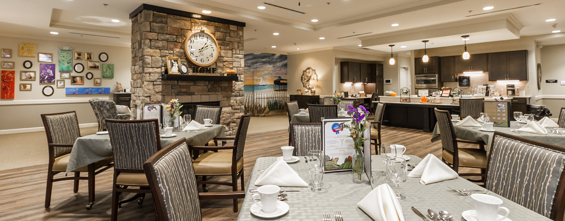 Mary B's country kitchen evokes a sense of home and reconnects residents to past life skills at Bickford of Virginia Beach