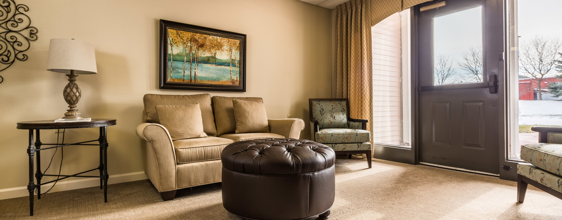 Enjoy a good snooze in the sitting area at Bickford of West Lansing