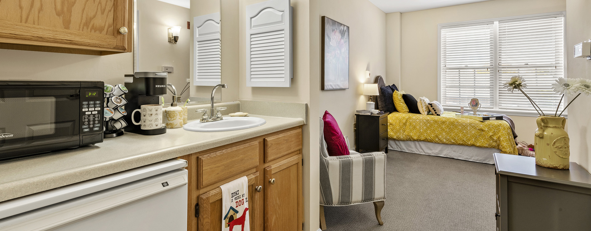 Enjoy senior friendly amenities, personal climate control and security in an apartment at Bickford of Worthington